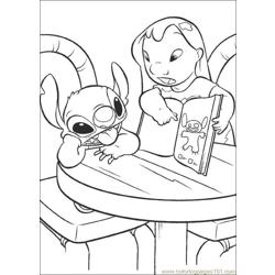 Lilo Stitch13 Free Coloring Page for Kids
