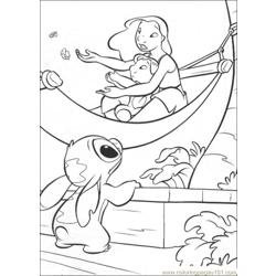 Lilo Stitch17 Free Coloring Page for Kids