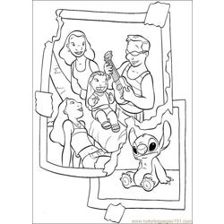Lilo Stitch18 Free Coloring Page for Kids