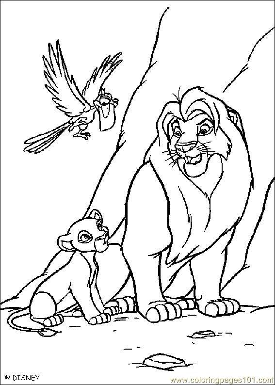 Lionking 12 Coloring Page