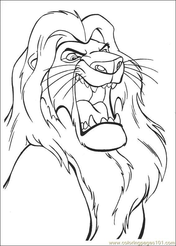 Lionking 53 Coloring Page