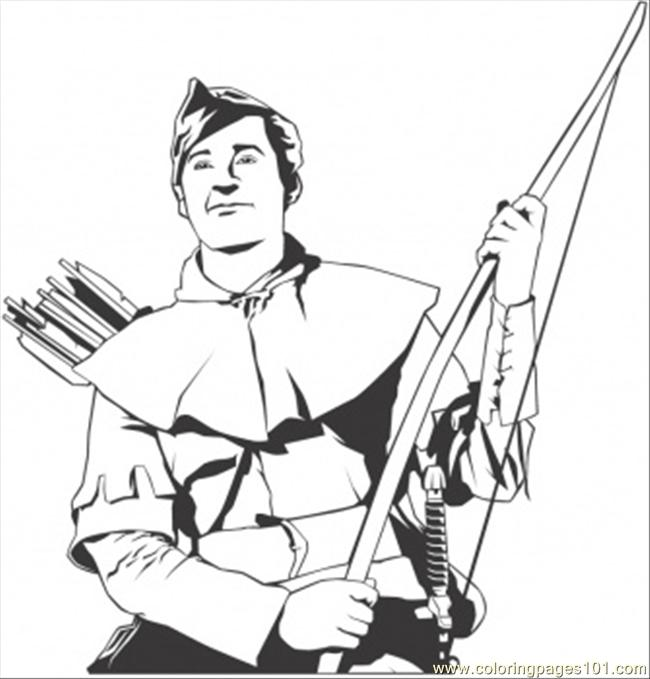 robin hood coloring page  free literature coloring pages
