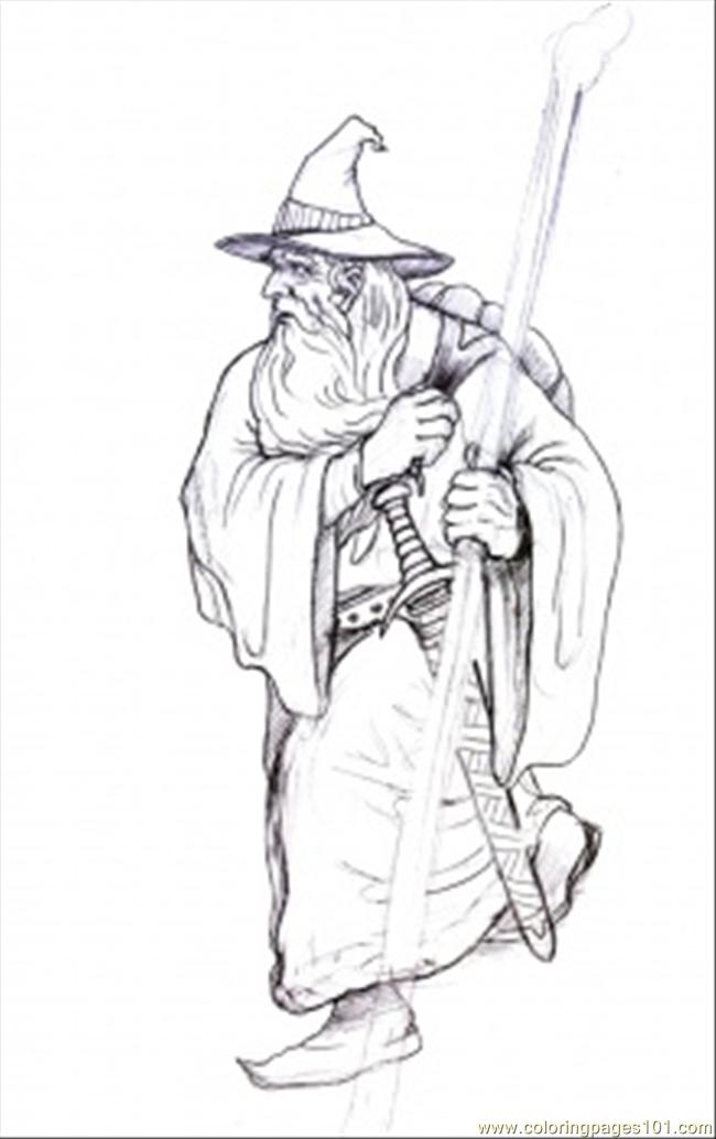 Gandalf On His Way Coloring Page