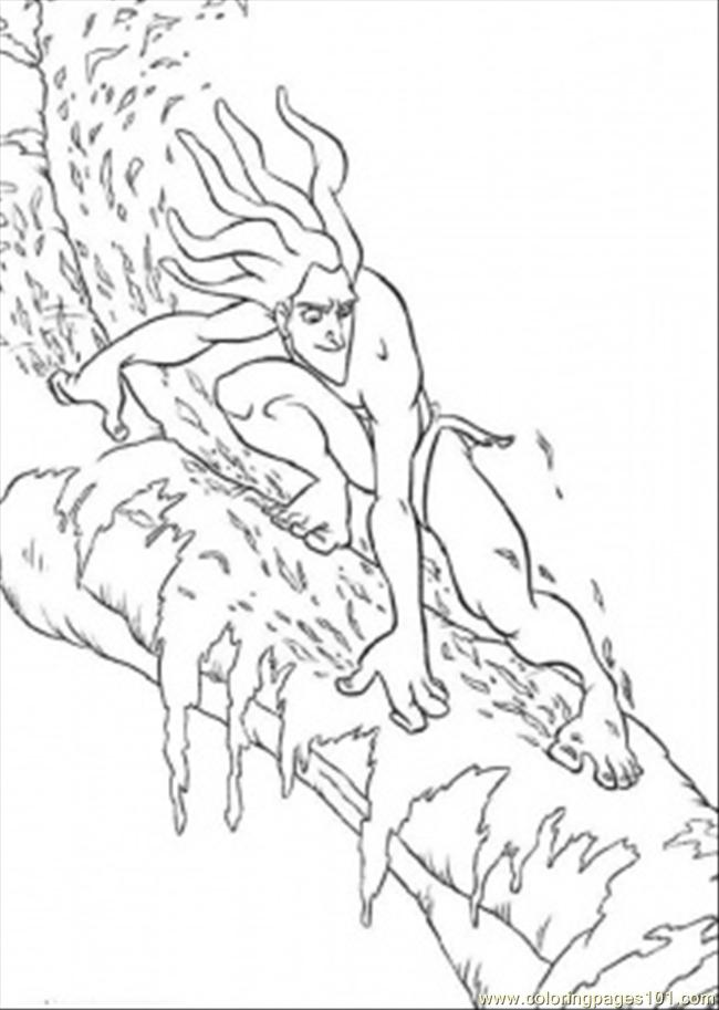 Tarzan On The Tree Coloring Page