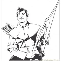Robin Hood coloring page