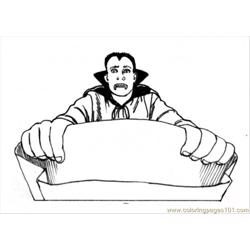 Dracula Free Coloring Page for Kids