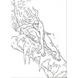 Tarzan On The Tree Free Coloring Page for Kids
