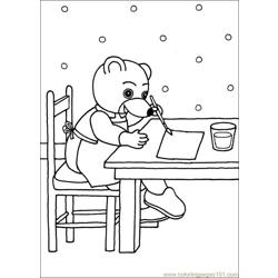 Little Brown Bear 12 Free Coloring Page for Kids