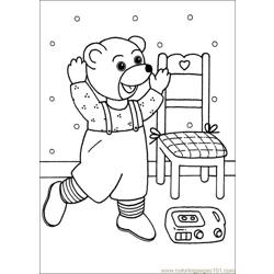 Little Brown Bear 13 Free Coloring Page for Kids