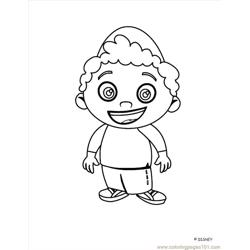 Little Einstein (13) Free Coloring Page for Kids