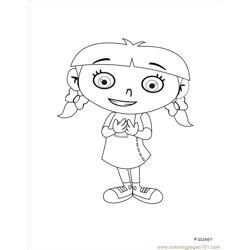 Little Einstein (2) Free Coloring Page for Kids