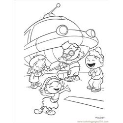 Little Einstein (6) Free Coloring Page for Kids
