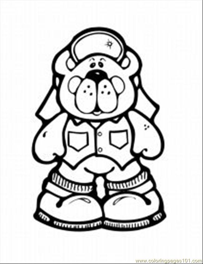 Polar Bear Med Coloring Page