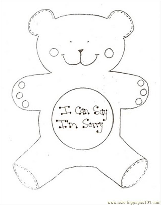Poolarbear Coloring Page
