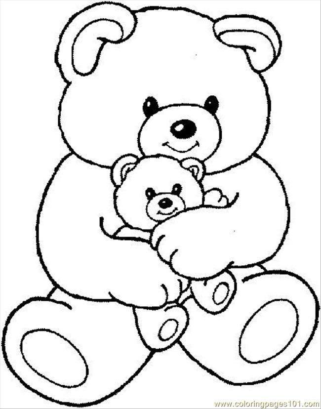 Teddybear1 Coloring Page Free The Little Polar Bear