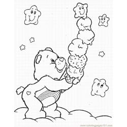 Care Bears Lrg Free Coloring Page for Kids