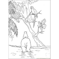 Hippo Eagle And Polar Bear Free Coloring Page for Kids