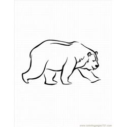 Kids Bearlrg Free Coloring Page for Kids