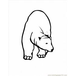 Polar Bear2 Lrg Free Coloring Page for Kids
