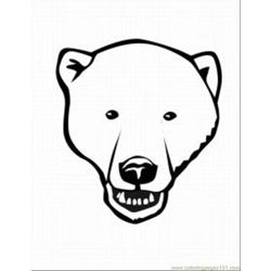 Polar Bear 5 Med Free Coloring Page for Kids