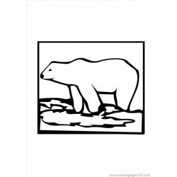 Polar Bear7 Lrg Free Coloring Page for Kids