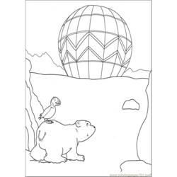 Polar Bear And The Bird Free Coloring Page for Kids