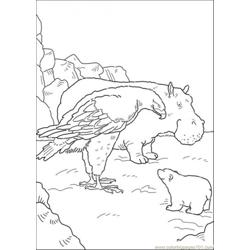 Polar Bear Hippo And The Eagle Free Coloring Page for Kids