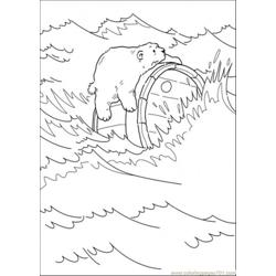 Polar Bear Is Holding A Crock Free Coloring Page for Kids