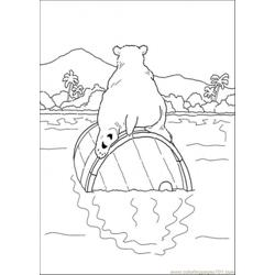 Polar Bear Is Sitting On The Crock