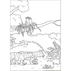 Polar Bear Meets Tigers Free Coloring Page for Kids