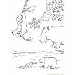 Polar Bear Plays His Tongue Free Coloring Page for Kids
