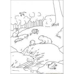 Polar Bears Are Playing At The Ground Free Coloring Page for Kids