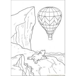 Polar Bear Want To Ride The Baloon Free Coloring Page for Kids