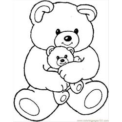Teddybear1 Free Coloring Page for Kids