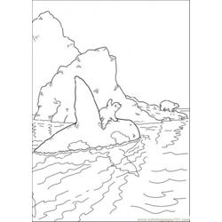 The Whale Takes Polar Bear Home Free Coloring Page for Kids