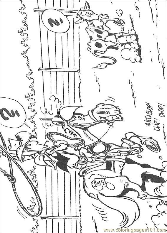 Lucky Luke 14 Coloring Page