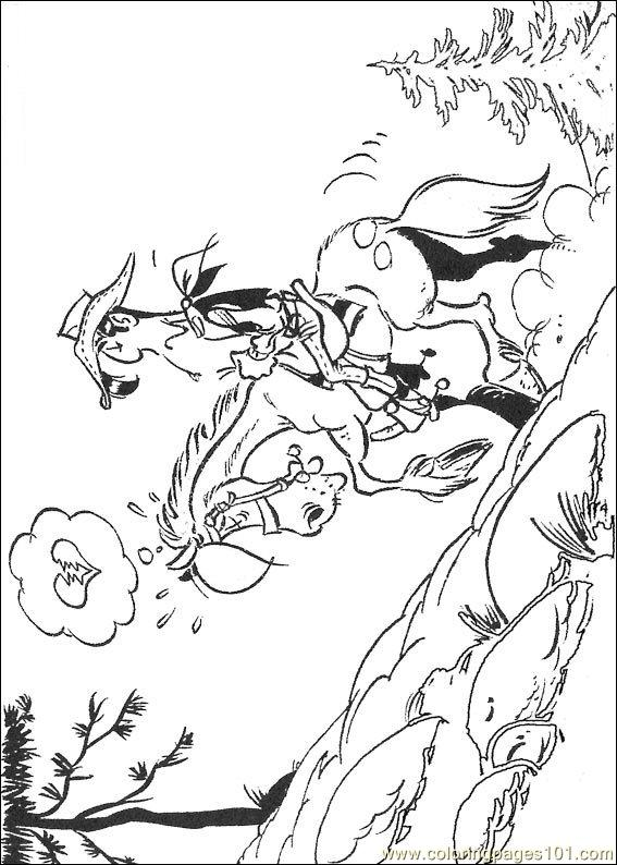 Luckyluke 12 Coloring Page