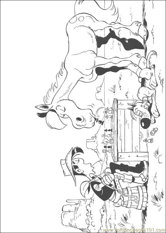 Luckyluke 36 Coloring Page