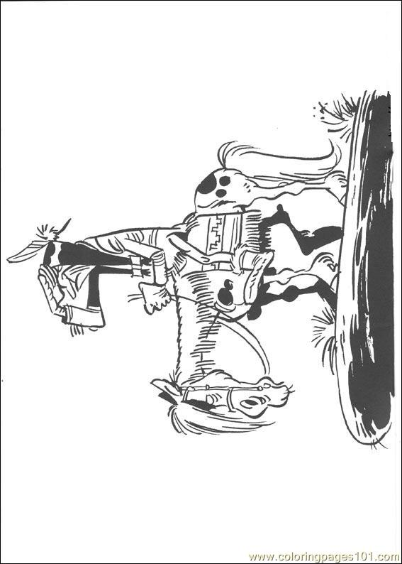 Luckyluke 43 Coloring Page Free