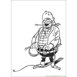 Luckyluke 45 coloring page