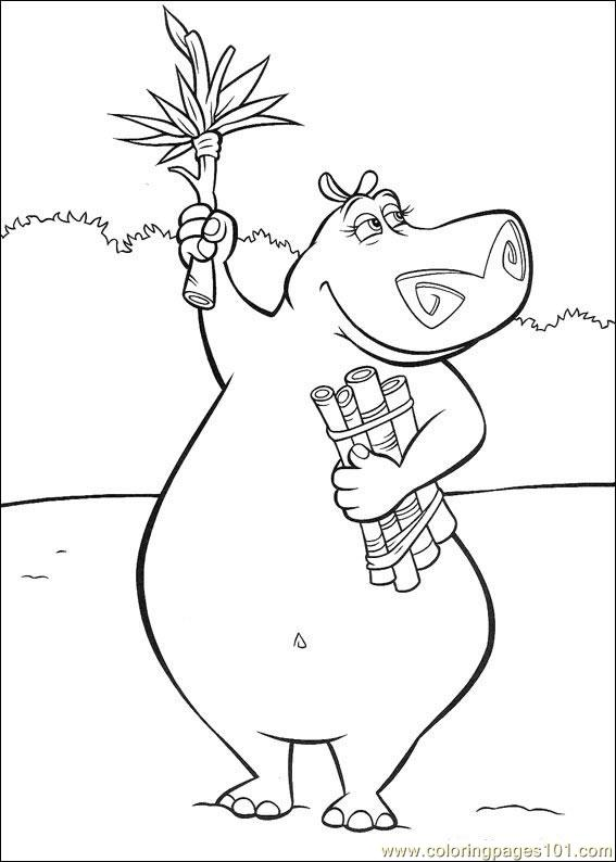 Madagascar 002 Coloring Page