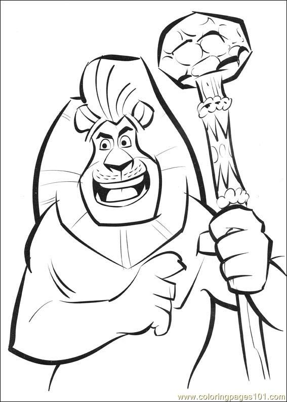 Madagascar2 16 Coloring Page