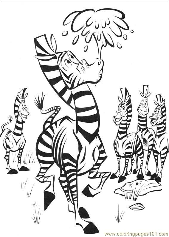 Madagascar2 17 Coloring Page