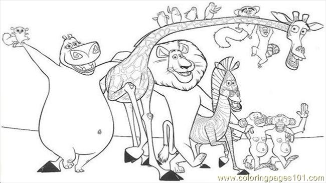 Madagascar coloring pages 12 coloring page free for Madagascar characters coloring pages