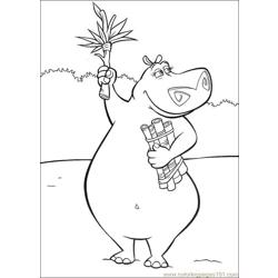 Madagascar 002 Free Coloring Page for Kids
