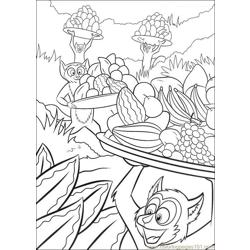 Madagascar 003 Free Coloring Page for Kids