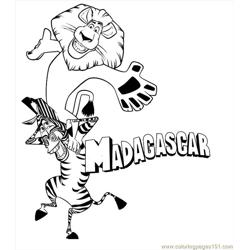 Madagascar 012 Free Coloring Page for Kids