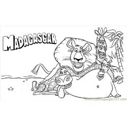 Madagascar 013 Free Coloring Page for Kids