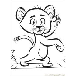 Madagascar2 33 coloring page
