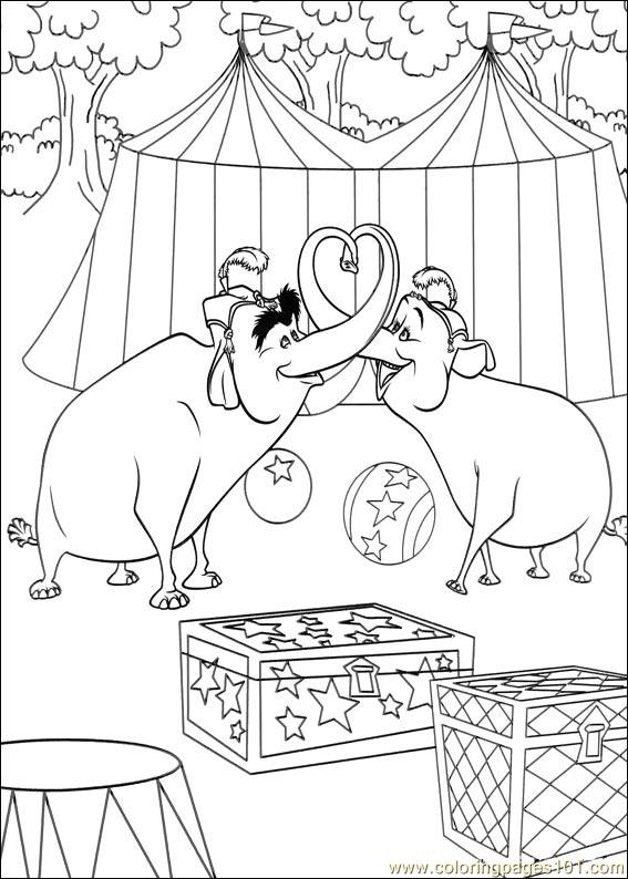 madagascar 3 circus coloring pages - photo#25